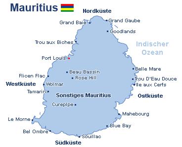 Mauritius Landkarte