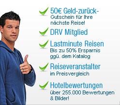 Geld-zurück-Gutschein, Tiefpreisgarantie, bis zu 65% Ersparnis bei lastminute, Preisvergleich, Hotelbewertungen