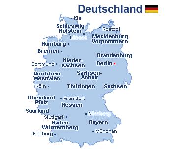 Deutschland Landkarte