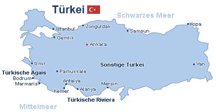 Türkei Landkarte
