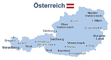 Österreich Landkarte