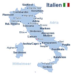Italien Landkarte