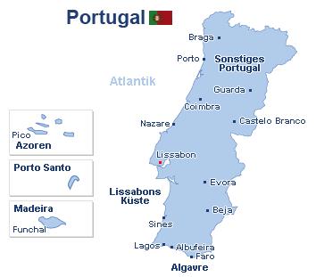Portugal Landkarte