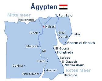 Ägypten Landkarte