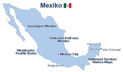 Mexiko Landkarte
