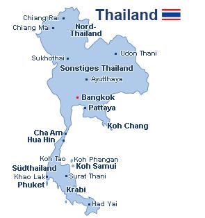 Thailand Landkarte