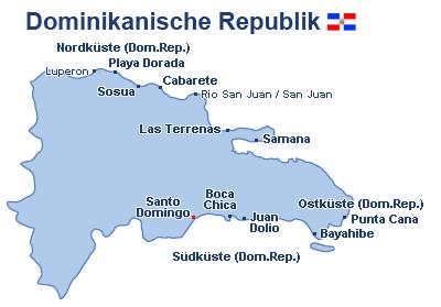 Dominikanische Republik Landkarte