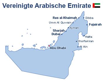 Vereinigte Arabische Emirate Landkarte