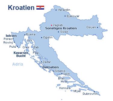 Kroatien Landkarte