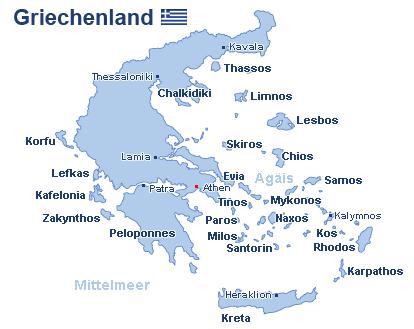Griechenland Landkarte