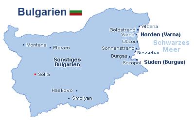 Bulgarien Landkarte