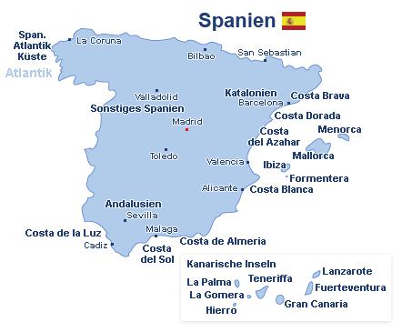 Spanien Landkarte
