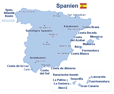 Spanien Landkarte