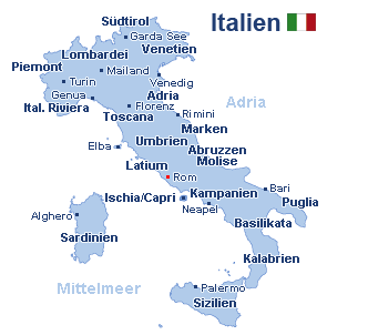 Italien Landkarte