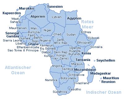 Afrika Landkarte