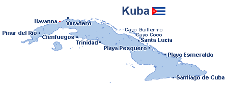 Kuba Landkarte